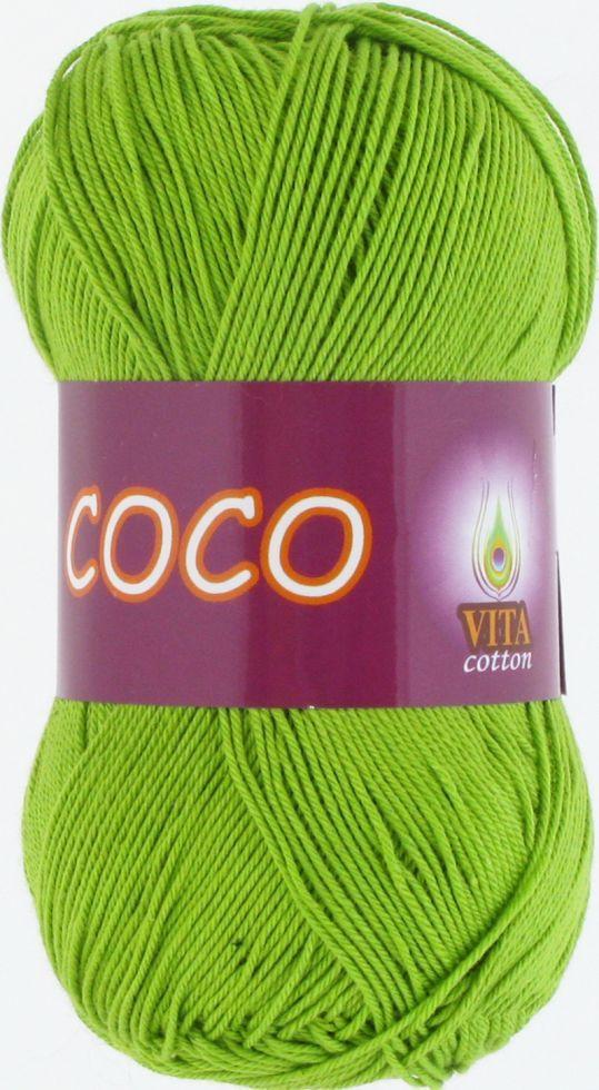 Пряжа для вязания Сосо, № 3861,  салат
