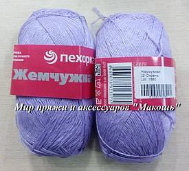 Пряжа Жемчужная Пехорка, 22, сирень