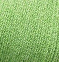 Пряжа зимняя для ручного вязания Бэби вул, 255, ярко-оливковый