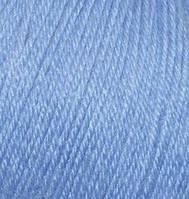 Пряжа зимняя для ручного вязания Бэби вул, 40, голубой