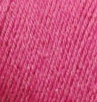 Пряжа зимняя для ручного вязания Бэби вул, 489, цикламен