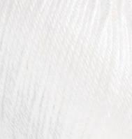 Пряжа зимняя для ручного вязания Бэби вул, 55, белый