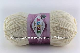 Пряжа Коттон голд Cotton Gold Alize, № 01, молочный
