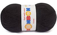 Пряжа Кристал Бон-бон Kristal Bonbon Nako, № 98206, черный