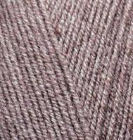 Пряжа Лана голд файн Lanagold fine Alize, № 240, коричневый меланж