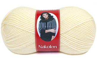 Пряжа Наколен Nakolen Nako,  № 256, молочный