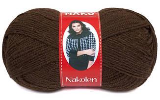 Пряжа Наколен Nakolen Nako, № 1182, коричневый