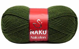 Пряжа Наколен Nakolen Nako, № 1902, зеленый