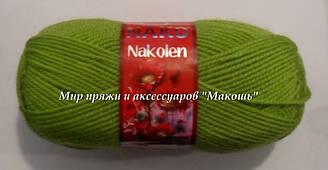Пряжа Наколен Nakolen Nako, № 23107,  салат