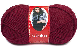 Пряжа Наколен Nakolen Nako, № 3630, вишневый