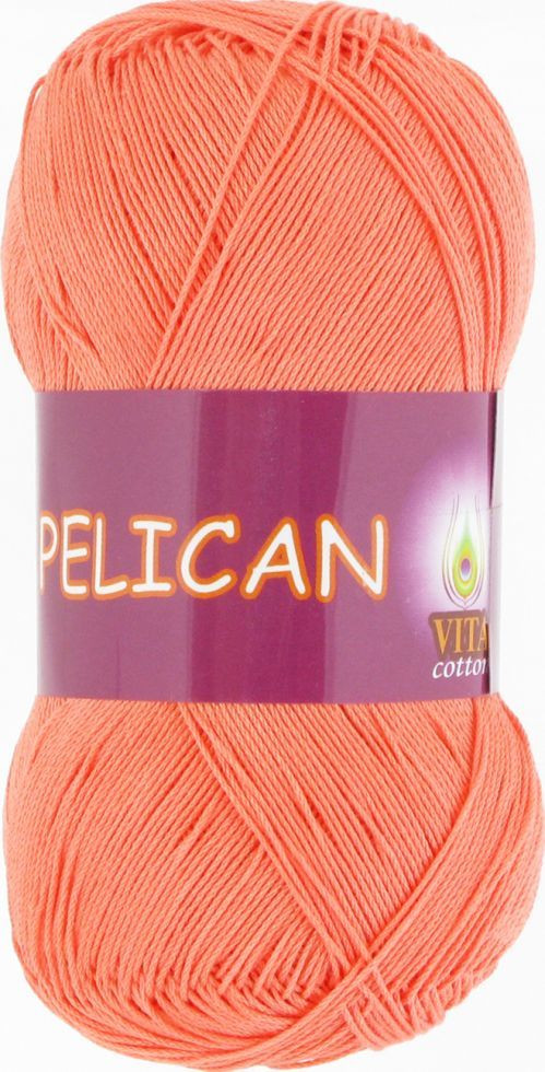 Пряжа Пеликан Pelican Vita Cotton, № 4003, персик