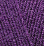 Пряжа полушерстяная Лана голд  Lanagold, № 111, фиолетовый