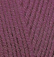 Пряжа полушерстяная Лана голд  Lanagold, № 136, виноград
