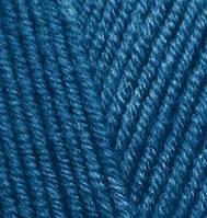 Пряжа полушерстяная Лана голд  Lanagold, № 155, т.бирюзовый