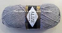 Пряжа полушерстяная Лана голд  Lanagold, № 207, светло-коричневый меланж