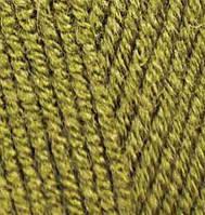 Пряжа полушерстяная Лана голд  Lanagold, № 233, зеленая черепаха