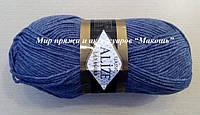 Пряжа полушерстяная Лана голд  Lanagold, № 203, джинс