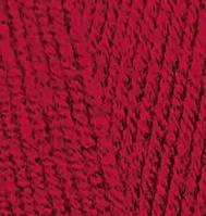 Пряжа полушерстяная Лана голд  Lanagold, № 390, вишня