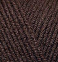Пряжа полушерстяная Лана голд  Lanagold, № 26, коричневый