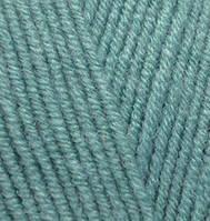 Пряжа полушерстяная Лана голд  Lanagold, № 386, лазурный