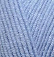Пряжа полушерстяная Лана голд  Lanagold, № 40, голубой