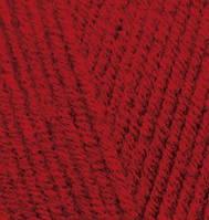 Пряжа полушерстяная Лана голд  Lanagold, № 56, красный