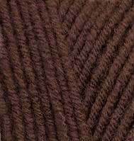 Пряжа полушерстяная Лана голд  Lanagold, № 583, каштановый