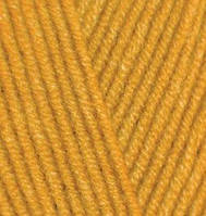 Пряжа полушерстяная Лана голд  Lanagold, № 645, горчичный