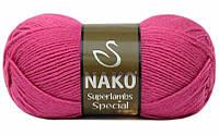 Пряжа Суперлембс  Superlambs Special Nako, №  10121, малиновый