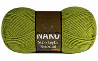 Пряжа Суперлембс  Superlambs Special Nako, №  23107, салат