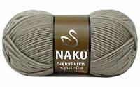 Пряжа Суперлембс  Superlambs Special Nako № 10007, серо-бежевый