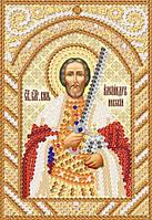 Св. Блг. Кн. Александр Невский, РИК-6001, Ткань с рисунком для вышивания бисером (иконы)
