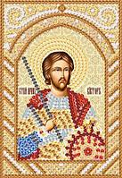 Св. Мч. Виктор, РИК-6017, Ткань с рисунком для вышивания бисером (иконы)