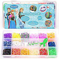"""Loom Bands """"Frozen"""" Большой набор резинок для плетения браслетов """"Холодное сердце"""""""