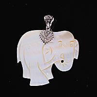 Кулон подвеска Перламутровый  Слон