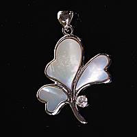 Кулон подвеска Орхидея  Белый Перламутр