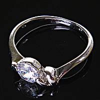 [17,18,19] Кольцо Помолвочное абстракция с камнем