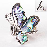 Кольцо без р-р  бабочка правым боком халиотис Перламутр
