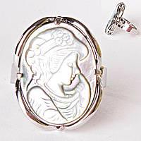 Кольцо без р-р  камея пальчик нос Перламутр