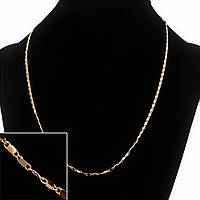 Цепочка Xuping, плетение Мадлена, цвет золото L-45см s-1,7мм
