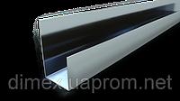 Уголок 50х40х10 0,9мм усиленный, оцинкованный (швеллер, полу-зет)