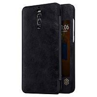 Кожаный чехол (книжка) Nillkin Qin Series для Huawei Mate 9 Pro Черный