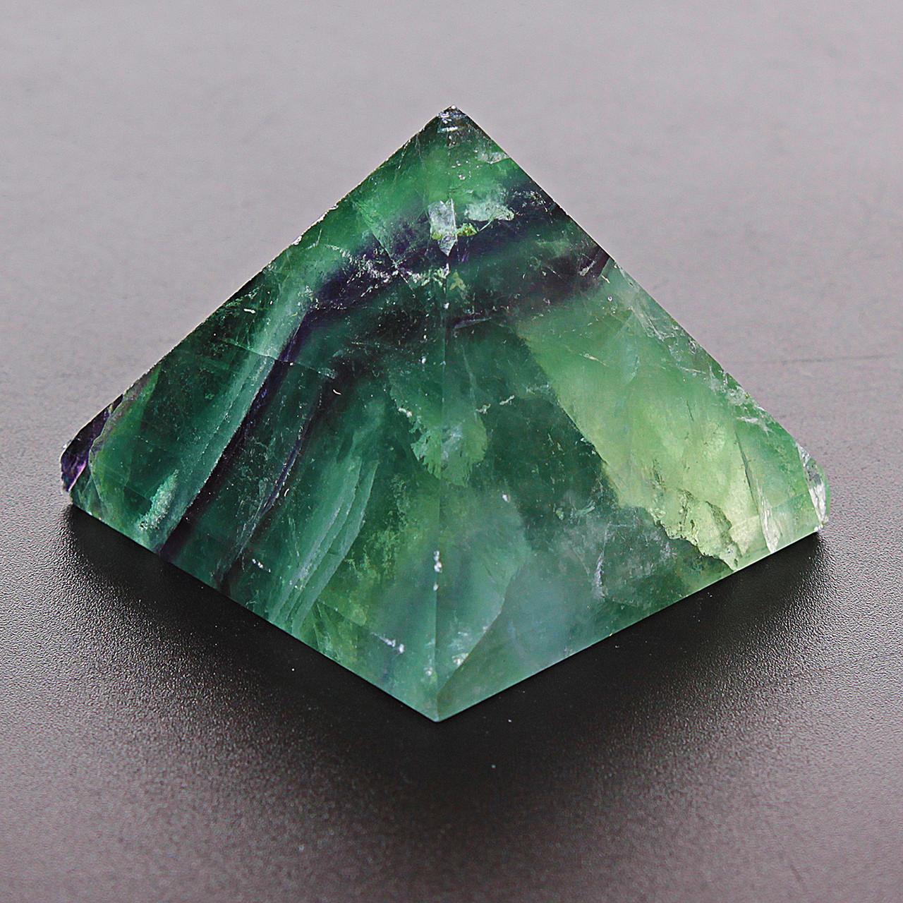 [4/3,5см] Пирамида из натурального камня Флюорит -  интернет-магазин «VAVILON».  в Одессе