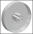 Заглушка для LED-профилей  круглая большая