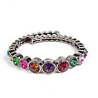 [5.5см] Браслет женский, из круглых элементов, украшенных декоративными камнями разных цветов
