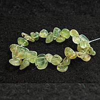 Браслет на резинке зеленый Пренит d-10 см