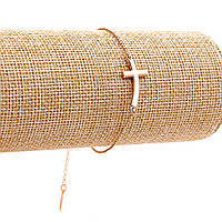 Браслет Xuping,цепочка со вставкой Крест,цвет золото,размер регулируется цепочкой