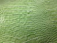 Кожа КРС Крокодил Тирнак зеленый, фото 1