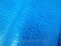 Кожа КРС Крокодил Тирнак голубой, фото 1