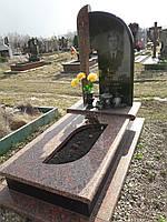 Памятник гранитный одинарный с вырезом